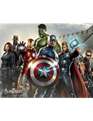 A Birthday Place The Avengers Group Edible Icing Image Cake / Cupcake Topper