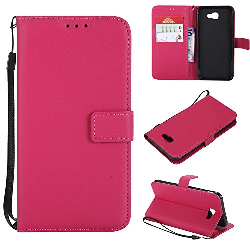 TOTOOSE Flip Wallet Case Compatible with Samsung Galaxy A5 (2017) A520 Leather Case Shock Protection with Card Slots Lightweight Series and Adjustable Stand Rosy