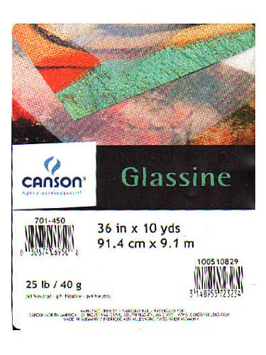 (Canson Glassine Art Paper Roll for Use as Slip Sheet to Protect Artwork, 25 Pound, 36 Inch x 10 Yard Roll )