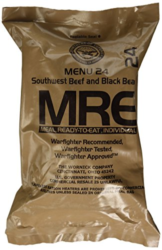 (Southwest Beef and Black Beans MRE Meal - Genuine US Military Surplus Inspection Date 2020 and Up)