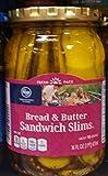 kroger pickles - Kroger Bread & Butter Sandwich Slims 16 Oz (Pack of 2)