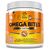 Omega 3 Chew Treats for Dogs with AlaskOmega - All Natural Fish Oil Pet Food Supplement - For Shiny Coats & Healthy Itch Free Skin - Bone, Joint & Brain Support - 90 Count