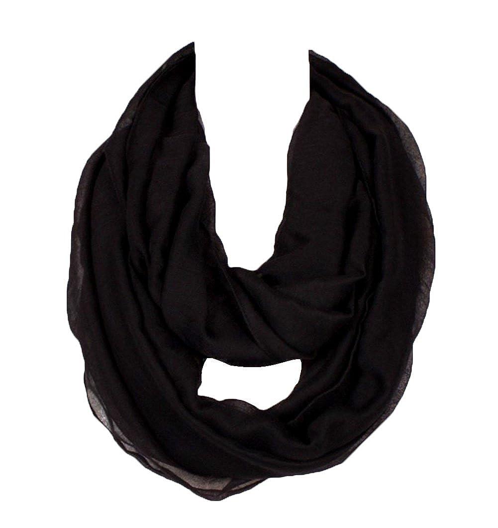 SUNDAYROSE Lightweight Infinity Scarf Solid Color Soft Wrap Shawl WBCS
