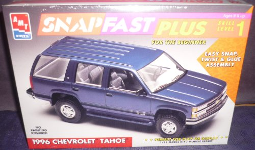 (#8236 AMT/Ertl 1996 Chevrolet Tahoe Snap Fast Plus 1/25 Scale Plastic Model Kit,Needs Assembly)
