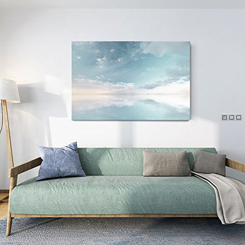 Peaceful Seascape with Skyline above the Calm Ocean Gallery