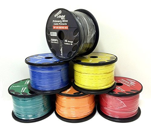 5 Rolls of 16 Gauge - 500' each Audiopipe Car Audio Home Primary Remote Wire by Audiopipe