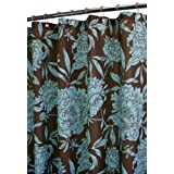 Park B. Smith Peony Watershed Shower Curtain, Coffee Bean/Light Aegean