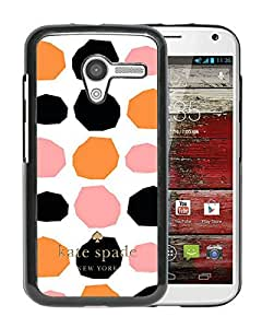 Fashionable And Unique Kate Spade Cover Case For Motorola Moto X Black Phone Case 112