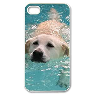 FLYBAI Labrador dog Phone Case For Iphone 4/4s [Pattern-1]