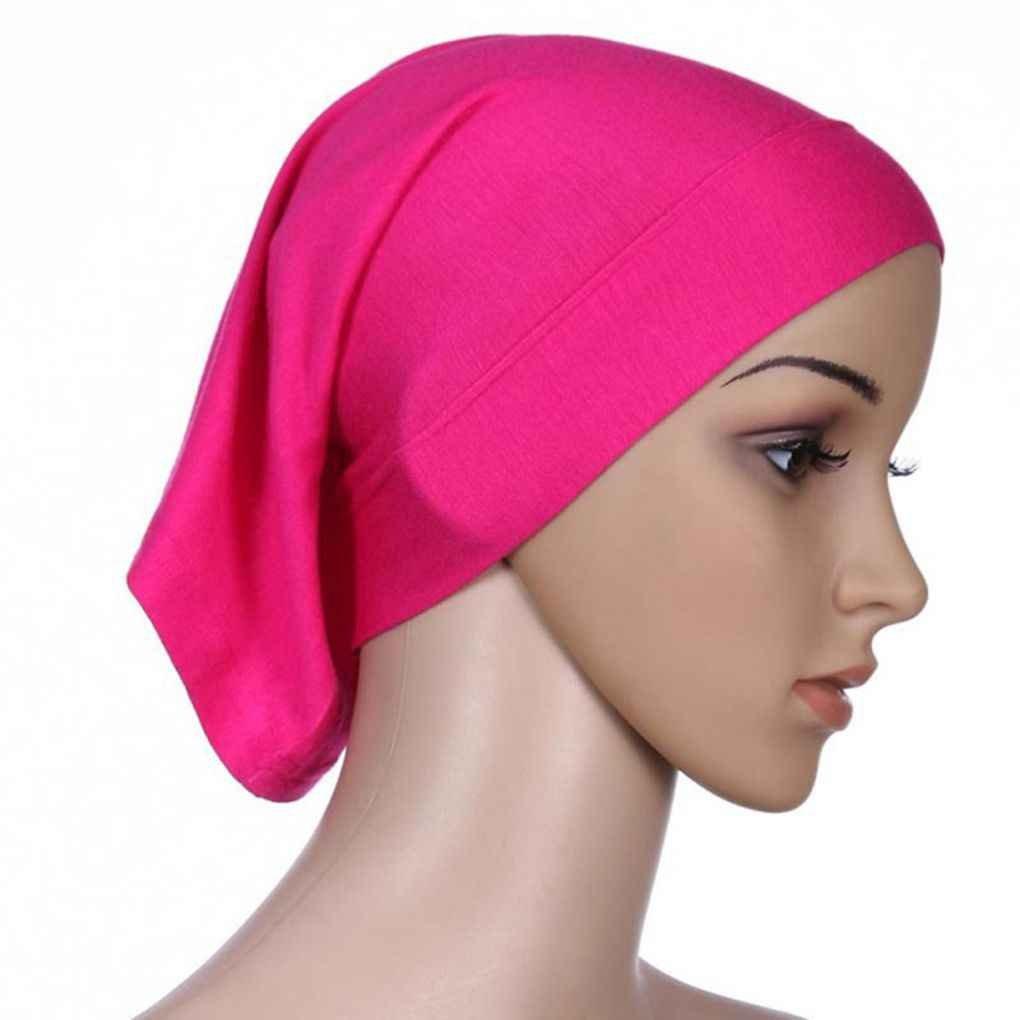 Bobury Frauen Kopftuch Elastische Schwei/ß Absorbierende Baumwolle Underscarf Hijab Rohr Kappe