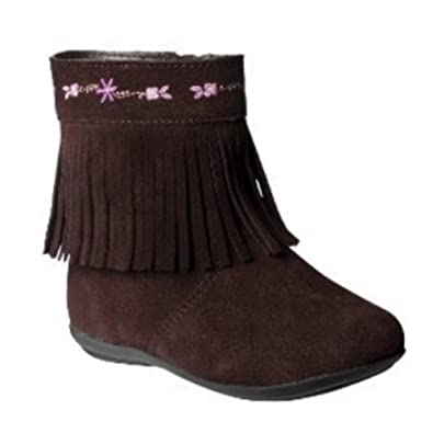 Amazon.com | Xhilaration Daryn Toddler Girls Brown Suede Leather ...