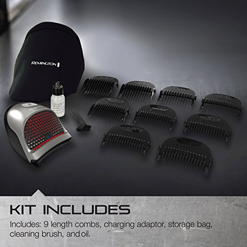Remington HC4250 Shortcut Pro Self-Haircut Kit, Hair Clippers, Hair Trimmers, Clippers, (13 pieces)