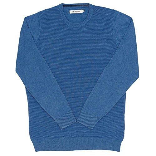 Ben Sherman The Ripple Stitch Mens Crewneck Sweater Navy LG