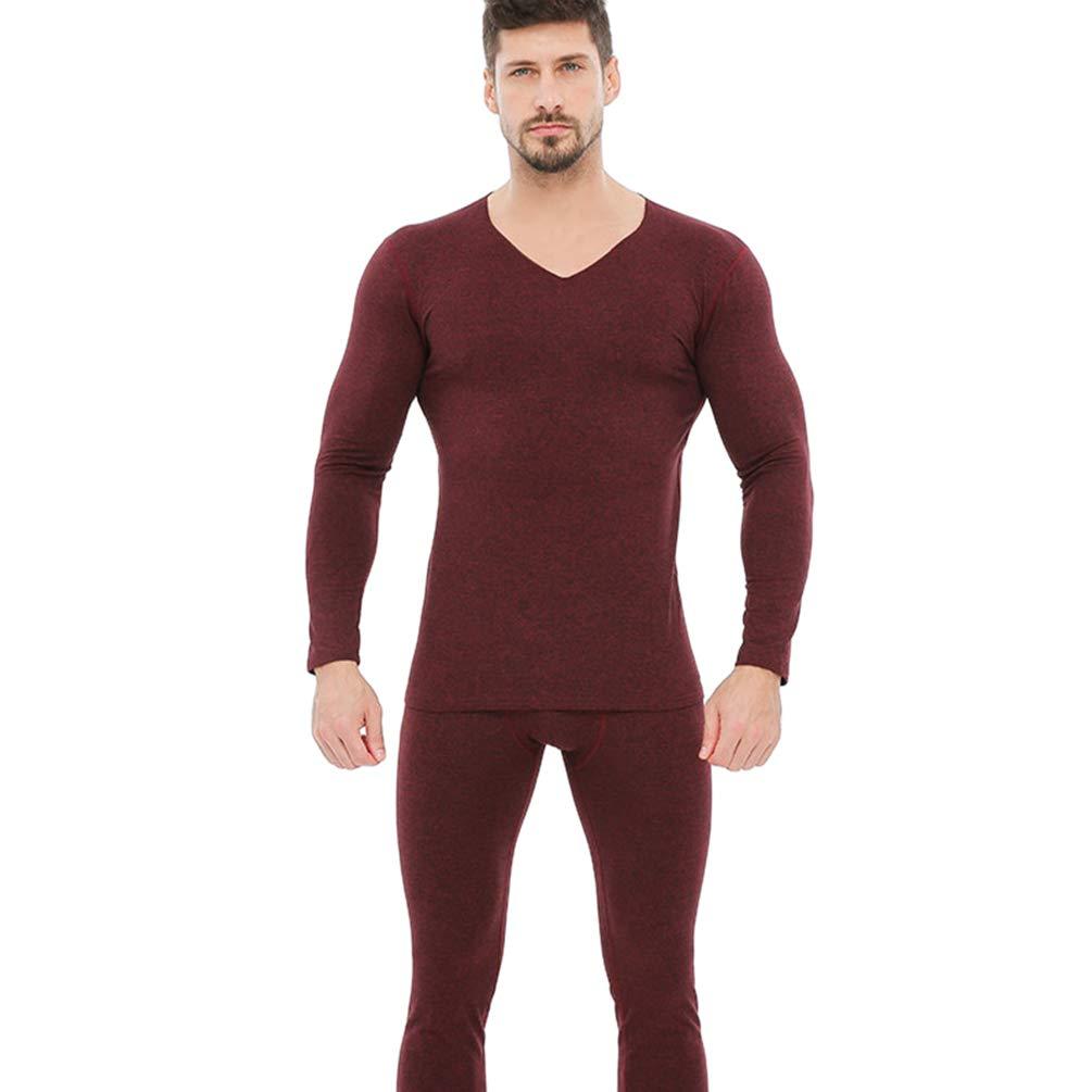 Baijiaye Uomo Set Intimo Termico Invernali Tuta Termica Intima Biancheria Maglie Maniche Lunghe Termico Pantaloni Termici Lightweight
