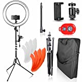 Photo : Emart 18 inch Dimmable Ring Light with Stand, 75W Fluorescent Flash Circle Lighting Kit for Photography, Makeup & Photo/Video Shooting in Studio, for Camera and iPhone