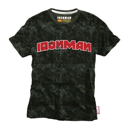 Iron Man - T-Shirt Red Logo - khaki-green - XL