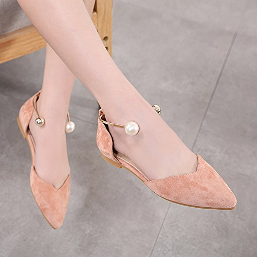 Sandals Fashion Flat Superficiale Womens Scarpe B Heel Pointed Shoes Summer Bocca LJO 7q1Zx