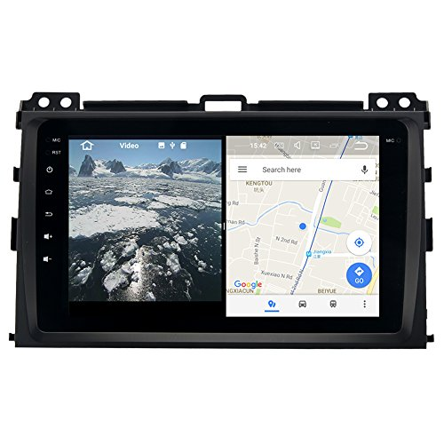 YongHang Android 7.1 Stereo 2 Din Unit for Toyota Prado Cruiser 120 2003 - 2009 Permanent Radio Navi GPS Radio Headunit WiFi Head Device Map Navigation