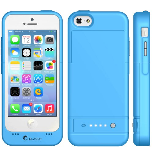 size 40 c43b6 30cc4 i-Blason Apple iPhone 5C PowerGlider Rechargeable External Battery Full  Protection Case [iOS 7 Compatible] with Micro 5 Pin USB Charging Port-AT  and ...