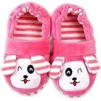Warme Winter Kinderslippers Jongens Meisjes Huisslippers Leuke Hond Mode Pluche Schoenen Antislip Huisschoenen - Roze…