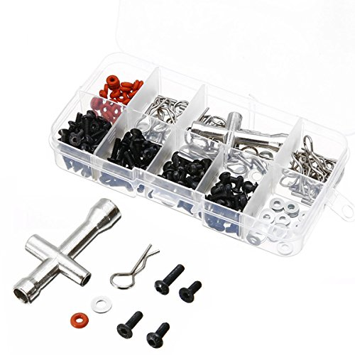 prorcmodel 270 in One Set Screws Box Repair Tool Kit for 1/10 HSP RC Car DIY Kits 94188 -
