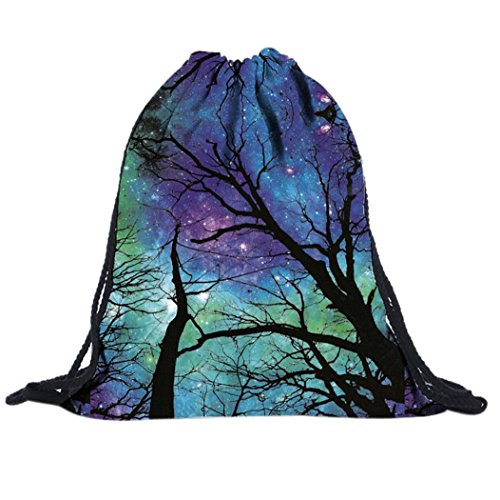 VIASA Gym Sack Bag Drawstring Backpack Sport Bag for Men & Women Sackpack,Multicolor For Sale