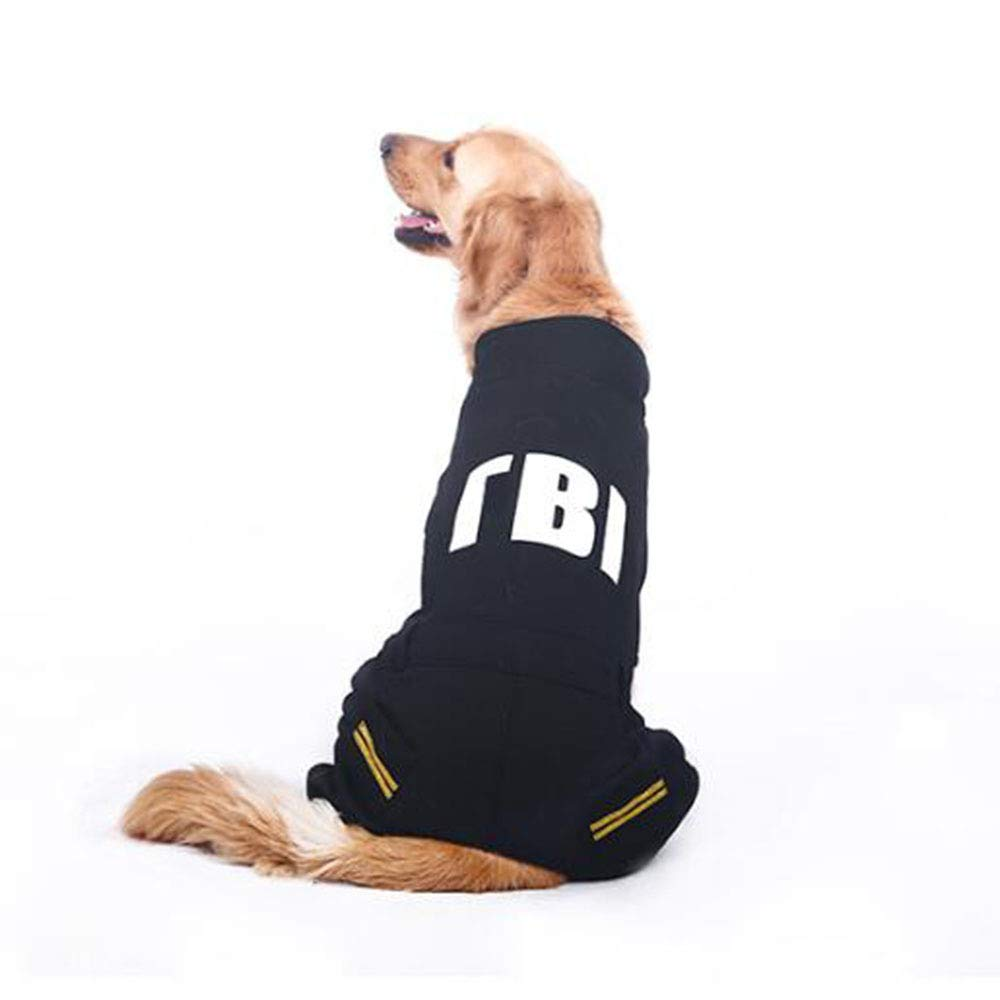 Black 5XL Black 5XL ANHPI-Pets coats Big Dog Winter Printed With Pocket Coat Thick Warm Cold Predection Pet Outdoor One-piece Casual Sweater Coat,3 colors,10 Sizes,Black-5XL