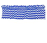 Zen Creative Designs Premium Cotton Curtain Valance / Window Decor / Window Treatments (18 Inch x 58 Inch, Royal Blue)