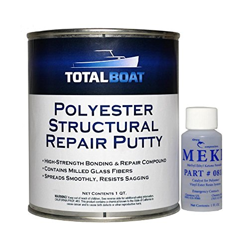 TotalBoat Polyester Structural Repair Putty (Quart Kit)