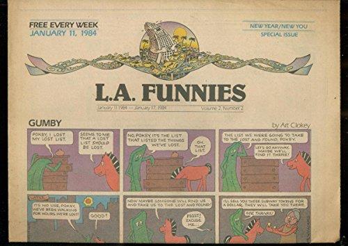 L.A. FUNNIES JAN 11 1984-GUMBY-HEY COACH-ZIPPY-RAREST VF -
