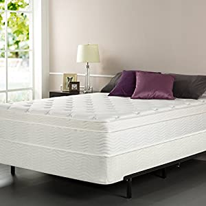 Zinus Sleep Master iCoil 13 Inch Euro Top Spring Mattress and BiFold Box Spring Set, Queen