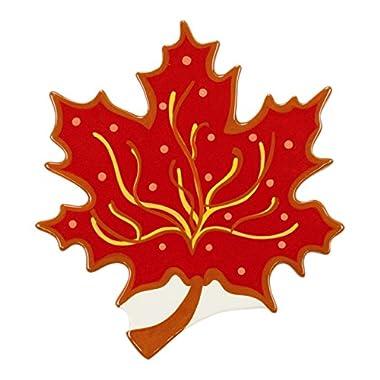 Coton Colors Decorative Red Leaf Attachment, Big