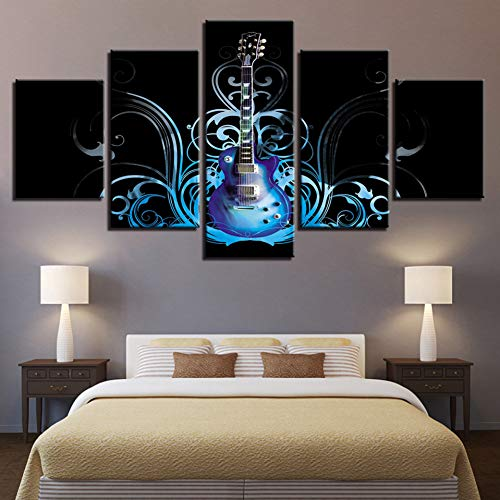 OUPDJ 5 Consecutive Paintings Artwork HD Prints Canvas Painting Home Musical Instruments Decoration 5 Pieces Wall Art…