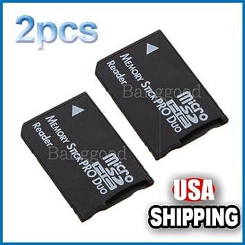 Amazon.com: 2 x Micro SD SDHC TF a Memory Stick lector de ...