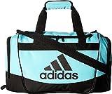 adidas Defender II Small Duffel Bag, Small, Clear Aqua/Black