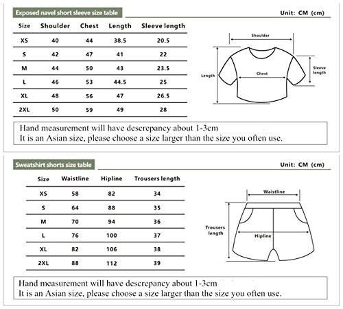 e Shorts Shirt Grigio per Top Ragazze Donne ZIGJOY bianca3 Abbigliamento Completo Crop Riverdale T e IwqqRPY1