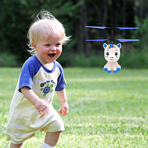COOVEE Flying Ball Toy, Hand-Controlled Rechargeable Infrared Induction Drone RC Flying Toy Built-in Shining LED Lights for Kids by COOVEE (Image #1)