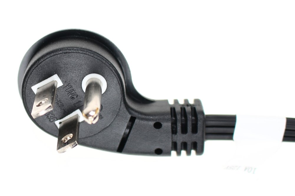 SF Cable 3ft Ultra Low Profile Angle NEMA 5-15P to C5 Straight Power Cord 3-Slot 18//3 AWG SPT-2
