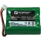 GE 86416 Cordless Phone Battery Ni-MH, 3.6 Volt, 1500 mAh - Ultra Hi-Capacity - Replacement for AT&T, Panasonic, VTech 80-5071-00-00, RadioShack 23-298 Rechargeable Batteries