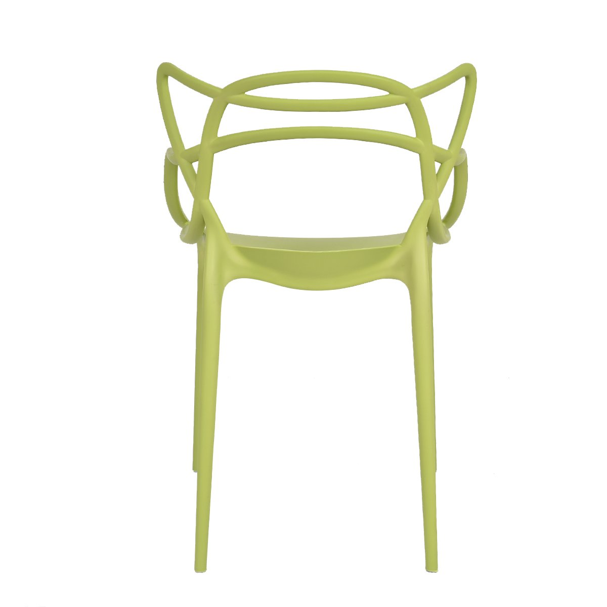 Giantex Set of 6 Dining Chairs Masters Modern Design Armchair Indoor Outdoor Stackable (Green)