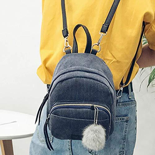 Women Handbag Bag Bag School Casual VPASS Gray Backpacks Shoulder Travel Leather Student Classic Purse xax6gwq