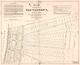 8 x 10 Reprinted Old Vintage Antique Map of: c.1848 Map of the village of Youngstown in Niagara County : being lots nos. 1 & 2 of the New York state reserved lands along the E. side of the Niagara R