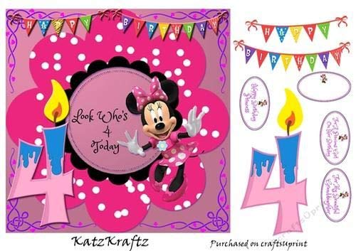 Donna Kelly - Lámina de cumpleaños de Minnie 4: Amazon.es: Hogar
