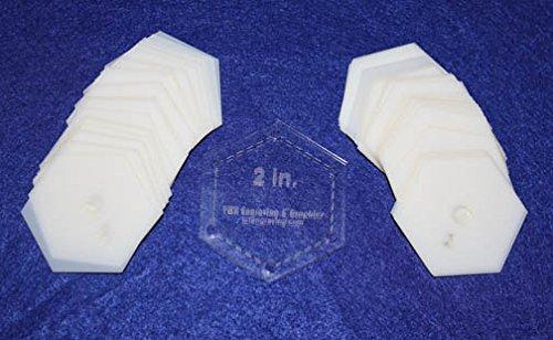 Mylar 2' Hexagon 51 Piece Set - Quilting/Sewing Templates