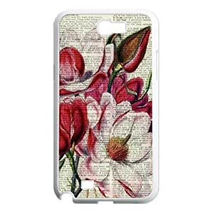 Vintage Flower Watercolor Classic Personalized Phone Case for Samsung Galaxy Note 2 N7100,custom cover case ygtg586341