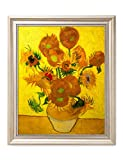 DecorArts - Sunflowers, Vincent Van Gogh Art Reproduction. Giclee Print& Framed Art for Wall Decor. 20x16'', Framed Size: 23x19''