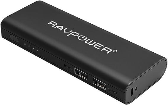 Bateria Externa Portátil 10400mAh (Doble USB, 3.5A iSmart, Linterna) RAVPower Power Bank para iPhone 7 iPad Smartphone Tablet Samsung Android: Amazon.es: Electrónica
