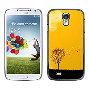 Paccase / SLIM PC / Aliminium Casa Carcasa Funda Case Cover para - Beautiful Autumn Leaves Tree - Samsung Galaxy S4 I9500