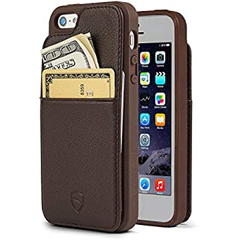 outlet store ee2b7 4dba7 iPhone SE / 5S Case, Vaultskin Eton Armour iPhone SE / 5S Case Wallet,  Slim, Minimalist Genuiner Leather Case - Holds up to 8 Cards/Top Grain  Leather ...
