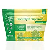 Jigsaw Health - Electrolyte Supreme Powder Drink Mix - Great Lemon Lime Flavor - Broad Spectrum of Electrolytes + Trace Minerals - 60 Powder Packets (Lemon Lime, Packets)